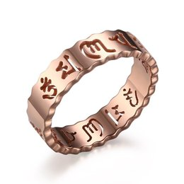 african fashion accessories UK - 316L Stainless Steel IP Gold Plated High Polished Women Ring Fashion Jewelry Rings Faith Accessories Silver Rose Gold Size 6-10