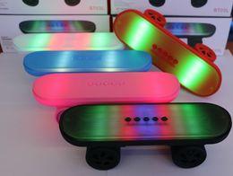 $enCountryForm.capitalKeyWord NZ - BT03L Skateboard Bluetooth Mini Speaker with LED Light Stereo Audio Player Protable Handsfree FM Radio For Any Smart Cellphone
