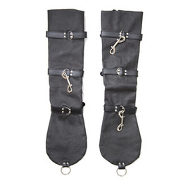 Accoudoirs En Cuir Pas Cher-Faux Leather Hogtie Arms Gants Fetish Restraintes Manchettes Adultes BDSM Jeu Bondage Set Meubles de sexe pour les couples Fantaisie Jouets érotiques