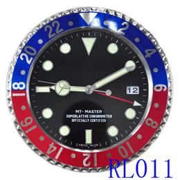 modern design wall clock home decor blue red scanning hand mute quartz mechanism