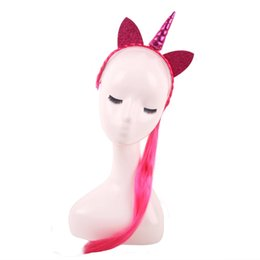 $enCountryForm.capitalKeyWord Canada - Girl Hairs Hoop Wig Braid Cat Ears Headband Unicorn Head Decoration Evening Party Supplies Game Prizes 5 5qy KK