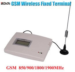 GSM 850/900/1800 / 1900MHz GSM análogo con LCD y batería de respaldo GSM terminal inalámbrico fijo