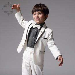 Vendite calde Risvolto Moda Boy Un pulsante Tuta bel bambino, Vestito bambini Vestito fiore ragazza vestito (Giacca + Pantaloni)