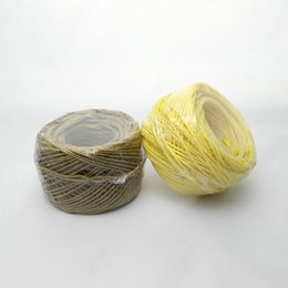Discount bee bong - 100% All Organic Wick with Natural Beeswax Coating Spool Twisted Bee 200ft Standard Size 1.2mm For Bongs Glass Pipes Dry