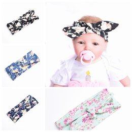 Band Paint Canada - New Baby Girls Headbands Elastic wash painting flower big wide bowknot hair band headwear 4 colors Children Hair accessories