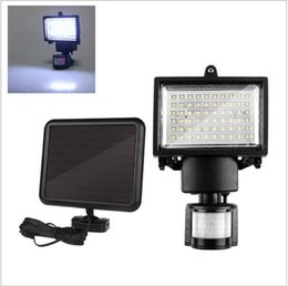 60 leds solar led floodlight outdoor cool white pir motion sensor led flood light lamp for garden path wall emergency lighting inexpensive 12v solar flood