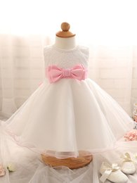 Children Tutu Formal Canada - Newborn baby girl princess dress little kids birthday party prom dresses sleeveless sequin toddler tutu skirts infant child clothes with bow