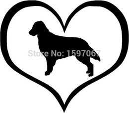 $enCountryForm.capitalKeyWord Australia - Wholesale 20pcs lot Home Decorations Automobile and Motorcycle Vinyl Decal Car Glass window Stickers Jdm Retriever Dog Heart Animal Pet
