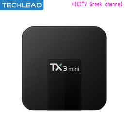China TX3 Mini Smart TV Box Android 7.1 With IUDTV 1 Year Subscription Swedish Albanian European IPTV Package UK Spain Portugal French Channels suppliers