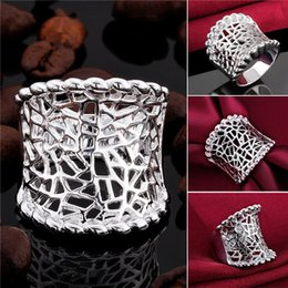 $enCountryForm.capitalKeyWord Australia - Mix size 10 pieces 925 silver Pull that ring hollow Free shipping GSSR542 Factory direct sale brand new fashion sterling silver finger ring