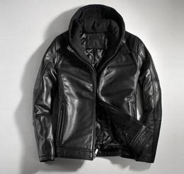 Korean Motorcycle Jacket Canada - European and American casual fashion brand men's winter Korean version of Nagymaros collar leather jacket motorcycle clothing   M-3XL