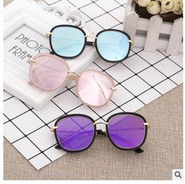 $enCountryForm.capitalKeyWord NZ - Brand Sunglasses Kids Newest Good Quality Hot Selling Vintage Big Frame Round Sun glasses For Girls 7 Colors Oculos UV400