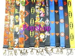 $enCountryForm.capitalKeyWord Canada - Hot Ssle!50pcs Mix Animation Avengers Hero Batman spider-man Cartoon Neck Strap Lanyard ID Holder Keys Mobile Phone