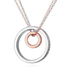Platinum Pendant For Women Australia - Necklaces For Women Fashion Brief Zircon 18K Gold Platinum Plated Circles Pendant Necklaces Clavicle Chain Necklace Wholesale TN061