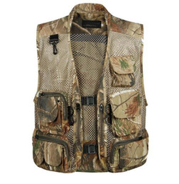 loose sports vest NZ - M~3XL 2016 Outdoor sports Gear Hiking Army combat Vests Movie Photography Director Producer mesh Waistcoat camouflage Vests Outerwear Coats