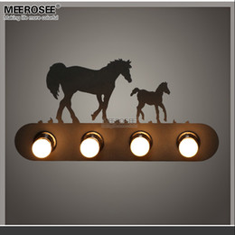 Contemporary Metal Wall Australia - Modern Metal wall lamp creative Horse wall sconces light fixture for staircase hallway living room Bedroom fast shipping MD81721