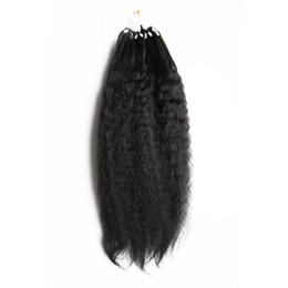 Venta al por mayor de Grado grueso del pelo humano de Yaki Loop 8a + micro Extensiones de pelo del anillo del lazo Paquetes del pelo humano Extensiones rectas de Yaki 100g / pc 10