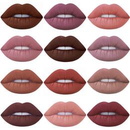 Discount new nude lipsticks - New Miss Rose 12pcs lot Lipstick Matte Long Lasting Pigment Nude Lip Hot Makeup Liquid Matte Red Lipstick