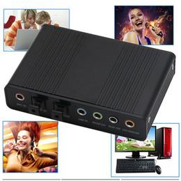 Usb Fiber Adapter NZ - 20set Optical USB Sound Audio Adapter 4 Channel 5.1 Audio Fiber Sound Card S PDIF Controller for PC