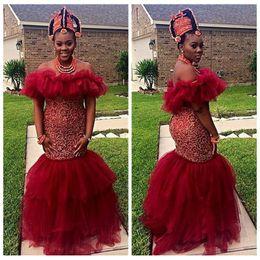 Red Organza Mermaid Dress