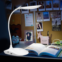 Discount europe lights - 600LUX Brightness 360 degree USB Rechargeable Touch Sensor LED Table Lamp 3 level Dimmable Reading Study Desk Light