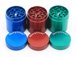 Pen Net NZ - Sharp Stone grinder Metal grinder herb grinder 4 part 55mm tobacco teeth filter net dry herb vaporizer pen vaporizer vapor e cig on sale