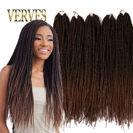 Ombre Crochet Braid hair 18inch 70grams pcs,small Senegalese Twist Hair 30 roots Synthetic braiding hair extension