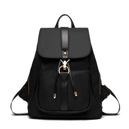 Briefcase Backpacks Canada - Women Backpack Vintage Oxford laptop Backpacks Drawstring Black Shoulder Bags For Teenage Girls School Bag