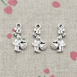 $enCountryForm.capitalKeyWord NZ - 130pcs Charms little red hat girl 21*11mm Antique Silver Pendant Zinc Alloy Jewelry DIY Hand Made Bracelet Necklace Fitting