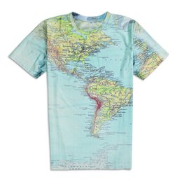 a25d8d457e8d8 2016 Hot Selling Men T-Shirts 3D Printed World Maps T Shirts For Men Plus  Size Tees Designer T Shirts
