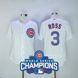 fd51f669ab2 ... Bound Stitched MLB Jersey 2016 Cubs World Series Champions Patch MLB  Chicago Mens Jerseys 3 David Ross White MLB Baseball ...