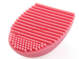 Make Up Egg UK - 200pcs lot Free Shipping Makeup Silicone Cleaning Brush Cosmetic Egg Brush Cleanser Beauty Make up Cleaner Clean Tool Brushegg