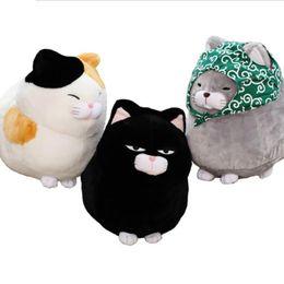 $enCountryForm.capitalKeyWord UK - Whosale 30 40cm Big face cat Cloth Doll pussy cat plush toy children Fat cat doll animals birthday gift For Children Kids Toys