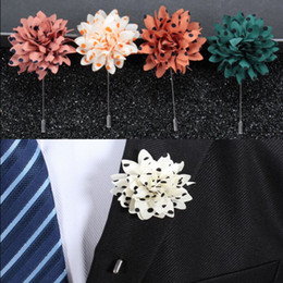 Wholesale pin stripes resale online - Men stripes corsage Boutonniere Brooch Pin colors for Men s women Accessories by Handmade Christmas Gift Free DHL Fedex