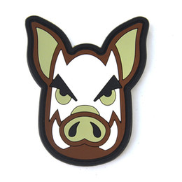 China Jungle Pig Banner 3D PVC Patch Armband Rubber Tactical Gear Patch Badge suppliers