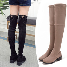 Discount Over Knee Elastic Boot | 2017 Over Knee Elastic Boot on ...