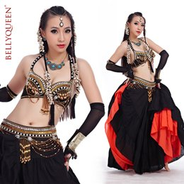 Barato Mulheres Dançando Cinto-Frete grátis New Arrival Stage Performance Tribal Dance Tribal Belt Coins Belly Dance Belt Women Tribal Belly Dance Costume