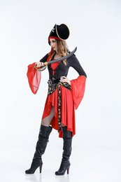 Barato Trajes Do Caribe Para Mulheres-Piratas do Caribe Cosplay para mulher Halloween Sex Caribbean Queen Cosplay Costumes Free Size Clothes for Choose
