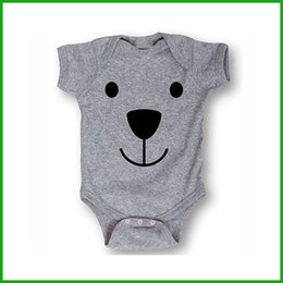 Toddler Leopard Jumpsuit Canada - newborn baby boys girls inflant rompers grey bear animal decoral solid outfits toddler jumpsuits children one-pieces
