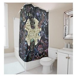 Shower Curtain Diy Canada - Customs 36 48 60 66 72 (W) x 72 Inch (H) Skulls Theme Moon Night Waterproof Polyester Fabric Shower Curtain DIY Shower Curtain
