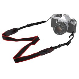 $enCountryForm.capitalKeyWord Australia - New Mirrorless Camera Shoulder Neck Belt Strap for Canon Sony Nikon Black + Red
