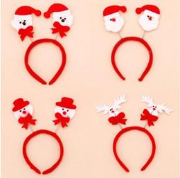 Christmas Hair Bands Santa Snowman Reindeer Bear Head Party Accessories Cute Fun Good Quality Holiday Hairbands
