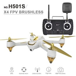 drone gps hd camera Canada - Original Hubsan RC Drone With Camera 1080P HD GPS Follow Me Mode Quadcopter Toys 5.8G FPV 10CH Headless RC Helicopter Drones RC HOT +B