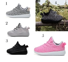 Barato Sapatos Baratos Para Bebês-5 Color kids West 350 Boost sneakers baby Boots Shoes Running Sapatos de desporto booties toddler shoes cheap Sneakers Training B001