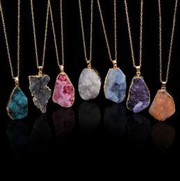 $enCountryForm.capitalKeyWord Canada - New Natural Crystal Pendant Quartz Healing Point Chakra Bead Gemstone Necklace original natural stone-style Pendants Necklaces Jewelry Chain