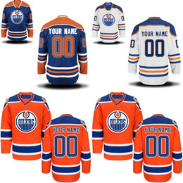23018eb90 Edmonton Oilers Jersey S-5XL Personalized Customized Jerseys With Any Name  and Any Number 100% Stitched Embroidery Logos Hockey Jerseys