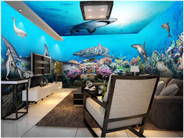 theme wallpaper NZ - 3d room wallpaer custom mural photo Underwater world shark theme space full house background wall 3d wall murals wallpaper for walls 3 d