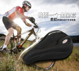 soft mountain bike seats 2019 - New 3D Silicone & Gel Pad Soft Thick Mountain Bike Bicycle Saddle Covers Mountain Cycling Cycle Seat Cushion cheap soft