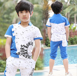 adba6d778 Kids boys summer 2018 new big virgin suit children's sports suit short-sleeved  clothes explosion models year-old child