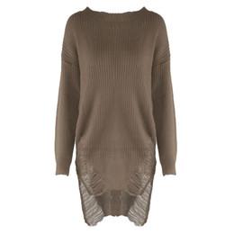 $enCountryForm.capitalKeyWord UK - Autumn Winter Women Sweater Loose Irregular Sweaters Dress O Neck Long Sleeve Tassel Jumper Pullover Pull Femme
